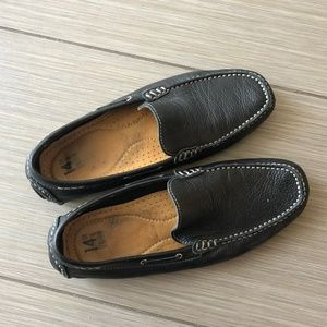 14th & Union Men's Black Leather Driving Loafers